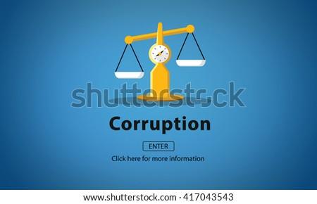 Corruption Bribe Cheat Illegal Money Finance Concept - stock photo