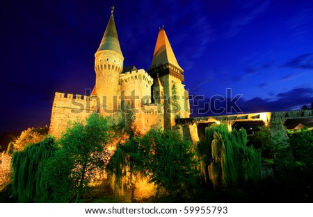 Corvinesti Castle, Transylvania - stock photo
