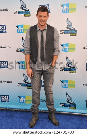 Cory Monteith at the 2012 Do Something Awards at Barker Hangar. Santa Monica Airport. August 19, 2012  Santa Monica, CA Picture: Paul Smith - stock photo