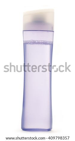Cosmetic bottle blank for background in closeup - stock photo