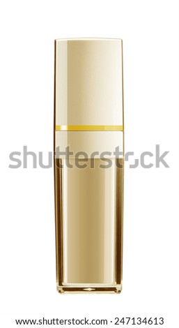 cosmetic bottle container isolated on white background - stock photo