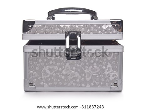 Cosmetic box on White background  - stock photo