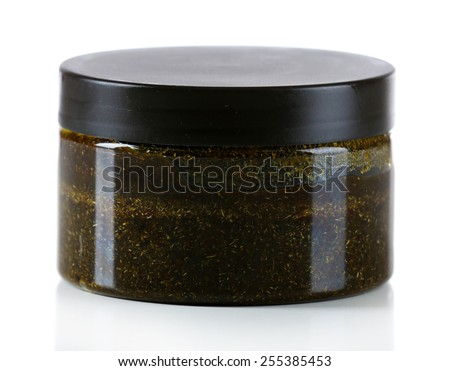 Cosmetic can isolated on white - stock photo