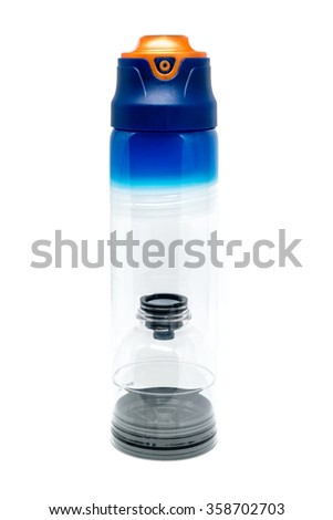 Cosmetic container isolated on white - stock photo