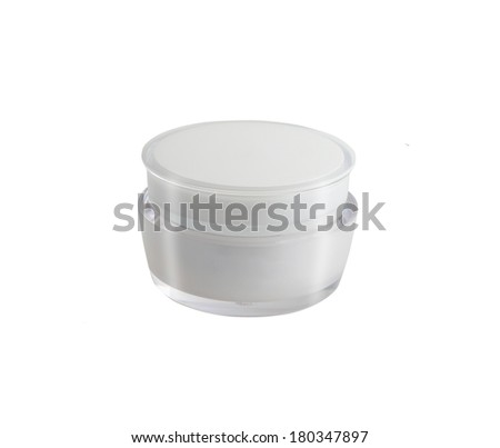 cosmetic cream in a bank - stock photo