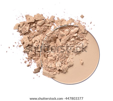 Cosmetic Crushed powder skin tone - stock photo
