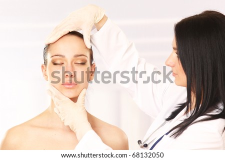 Cosmetic medicine. Injection - stock photo