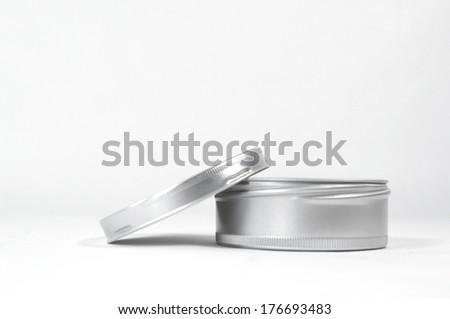 cosmetic pot - stock photo