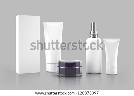 Cosmetic templates for designers. Tubes and bottles. - stock photo