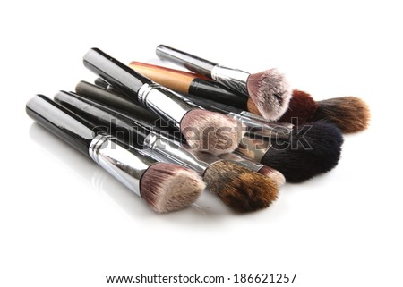 Cosmetics and Brushes  - stock photo