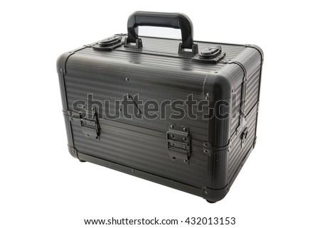 Cosmetics case box isolated on white - stock photo