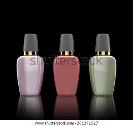 Cosmetics containers,  packaging. High resolution. - stock photo
