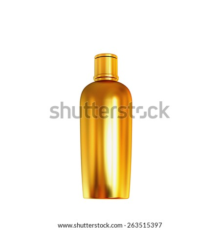Cosmetics containers, packaging isolated on white background. High resolution. - stock photo