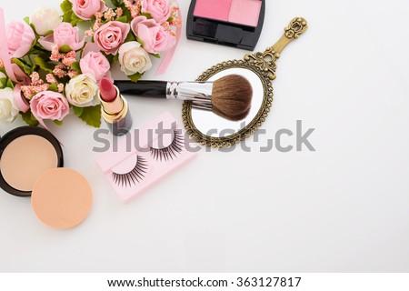 Cosmetics image - stock photo