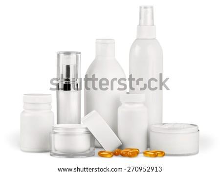 Cosmetics, Moisturizer, Beauty. - stock photo