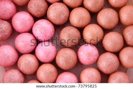 Cosmetics rouge isolated on white - stock photo