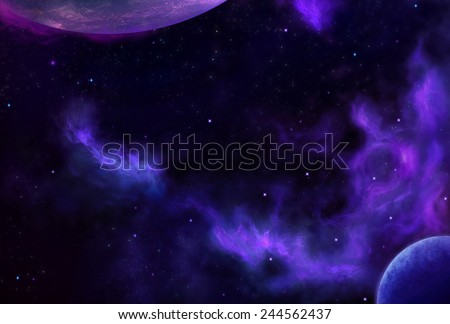 Cosmic Space 4 - Scene Design - stock photo