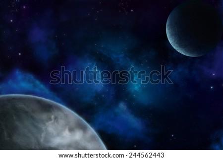 Cosmic Space 5 - Scene Design - stock photo