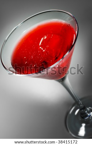 Cosmopolitan - Alcoholic Cocktail made from Gin Cointreau, Lemon Juice and Grenadine Syrup - stock photo