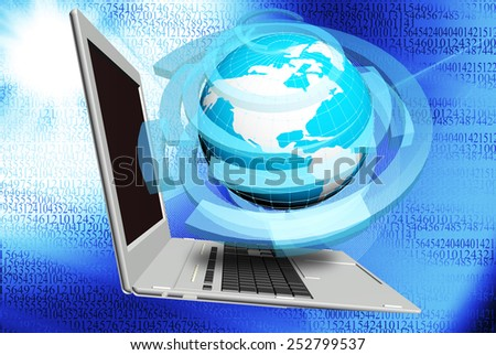 Cosmos computer technologies.Science research.Internet - stock photo