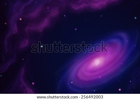 Cosmos Nebula - Scene Design - stock photo