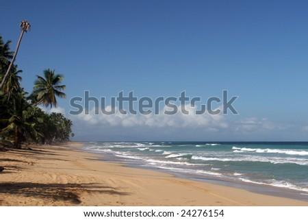 Coson beach, Las Terrenas, Samana peninsula, Dominican Republic - stock photo