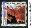 COSTA RICA - CIRCA 1975: A Stamp printed in COSTA RICA shows a Gulf of Nicoya ,  circa 1975 - stock photo