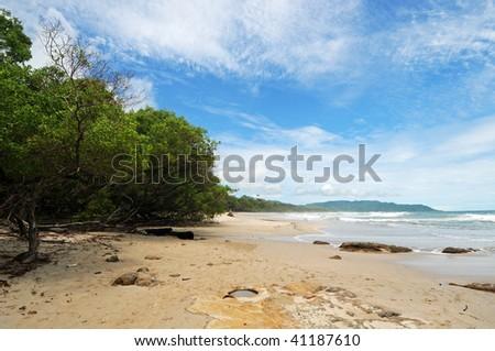 Costa Rica Tropical Beach and Coastline - stock photo