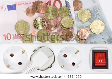 costly power consumption - stock photo