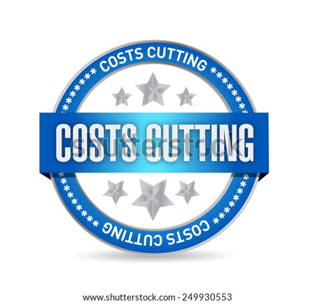 costs cutting seal illustration design over a white background - stock photo