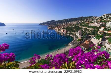 Cote d'Azur in a place Villefranche-sur-Mer, France - stock photo