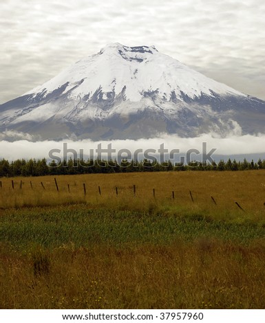 Cotopaxi is the highest active volcano in the world - stock photo