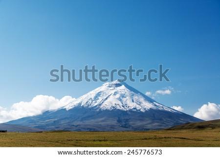 Cotopaxi volcano view just south of Quito, Ecuador - stock photo