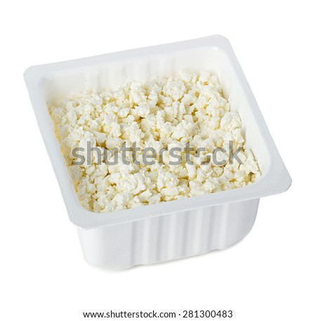 Cottage cheese. Curd - stock photo
