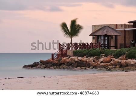 Cottage near a Beach - stock photo