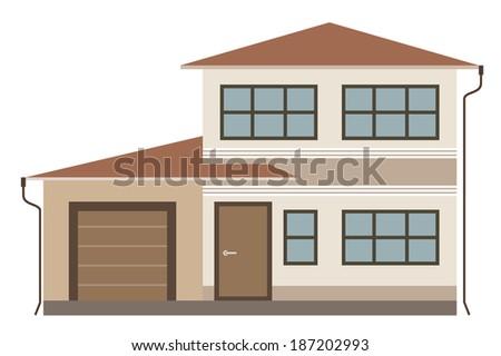 Cottage. Raster illustration.  - stock photo