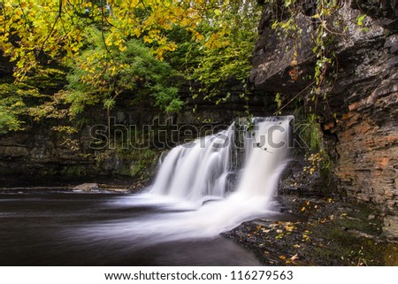 Cotter Falls near Hawes, The Yorkshire Dales National Park - stock photo