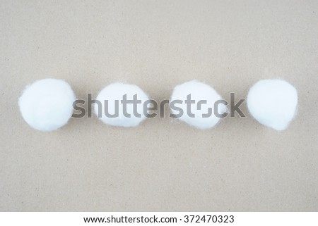 Cotton baby, cotton balls  - stock photo