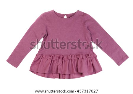 Cotton baby dress. Isolate on white. - stock photo