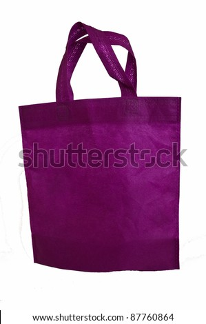cotton bag on isolated white background - stock photo