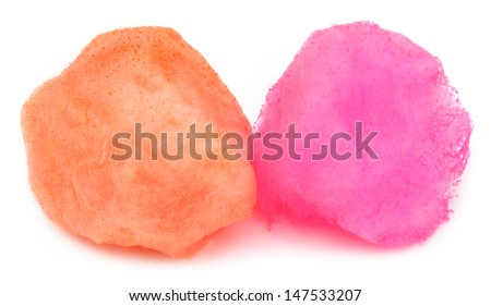 Cotton candy of two colors - stock photo