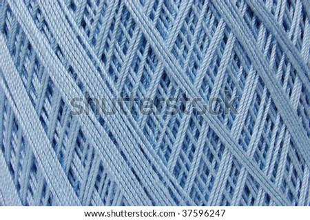 Cotton crochet thread in baby blue - stock photo