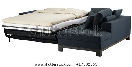Couch bed isolated on white. Include clipping path - stock photo