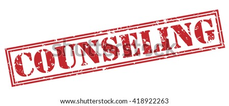 Counseling stamp - stock photo