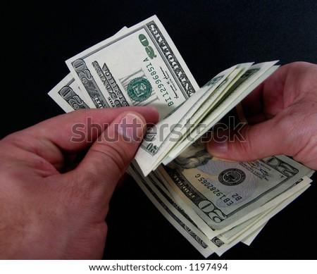 count money - stock photo