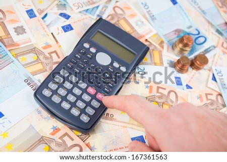 Count the earnings - stock photo
