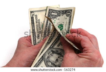 counting change - stock photo