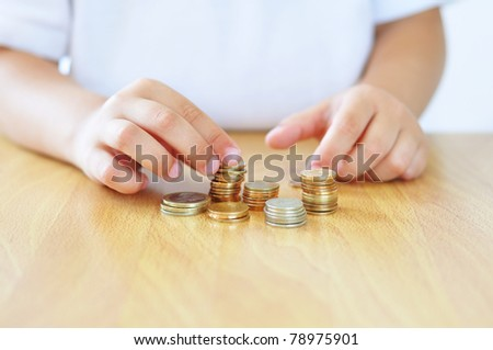 Counting money - stock photo