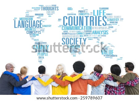 Countries Nation Society Territory International Concept - stock photo