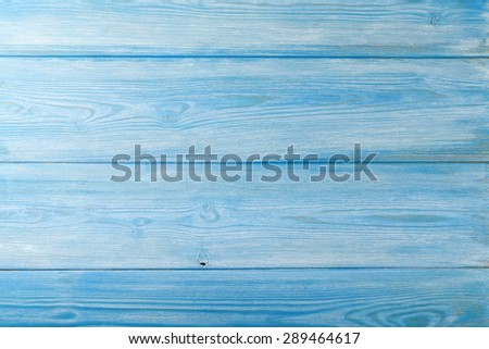Country blue wooden table background texture - stock photo